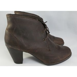 Clarks Lace Up Brown Ankle Boots